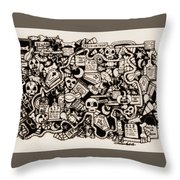 Just Halloweeny Things V6 Throw Pillow by Chelsea Geldean