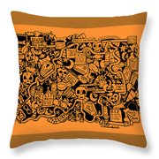 Just Halloweeny Things V7 Throw Pillow by Chelsea Geldean