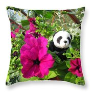 Just Hanging In There Throw Pillow