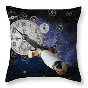 Just Killing Time Throw Pillow