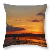 Just Like Fishin In Paradise Throw Pillow