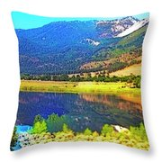 Just Like Glass Throw Pillow