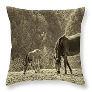Just Like Mom - Sepia Throw Pillow