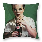 Just Like Old Times - Coca-cola Throw Pillow
