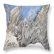 Just Love Throw Pillow