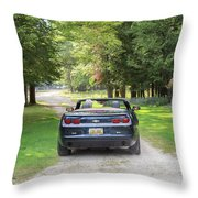 Just Married In The Car Throw Pillow