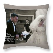 Just Married Today Quote Throw Pillow