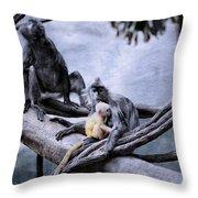 Just Monkeying Around Throw Pillow