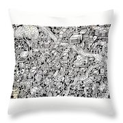 Just One Night Throw Pillow by Chelsea Geldean