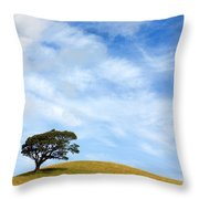 Just One Tree Hill Throw Pillow
