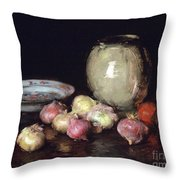 Just Onions, 1912 Throw Pillow