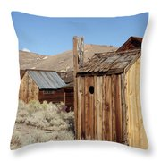 Just Out Back Throw Pillow