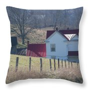 Just Over The Hill - Craig County Virginia Scenic Throw Pillow