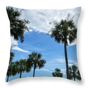 Just Palm Trees Throw Pillow