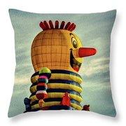 Just Passing Through  Hot Air Balloon Throw Pillow by Bob Orsillo