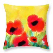 Just Poppies Throw Pillow