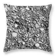 Just Rocks - Black And White Throw Pillow