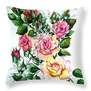 Just Roses Throw Pillow