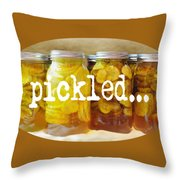 Just Squickled Green Throw Pillow