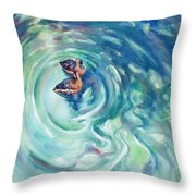 Just Swimming Throw Pillow