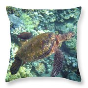 Just Tagging Along Throw Pillow