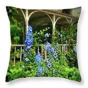 Just The Blues Throw Pillow