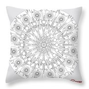 Just The Lines 1 Throw Pillow