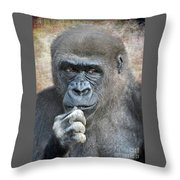 Just Thinking  Throw Pillow