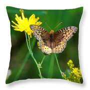 Just Us Flowers Throw Pillow