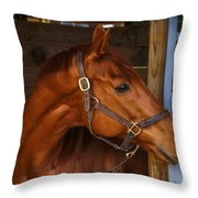 Just Waiting For My Turn To Race Throw Pillow