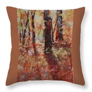 Just Waking Throw Pillow