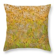 Just Wheat Throw Pillow
