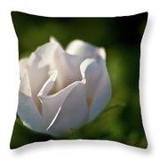 Just White Throw Pillow
