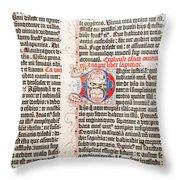 Gutenberg Bible Throw Pillow