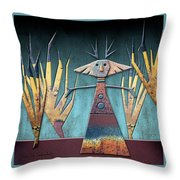 Justine The Goddess Of June Throw Pillow