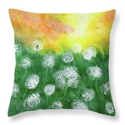 Justin's Dandelions Throw Pillow