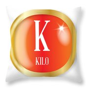 K For Kilo Throw Pillow
