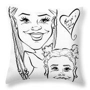 K J Throw Pillow
