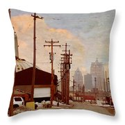 K-line Throw Pillow