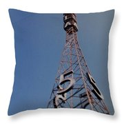 K T L A Channel 5 Throw Pillow