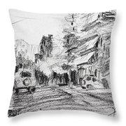 K Varnali Street Nea Erythraia  Throw Pillow
