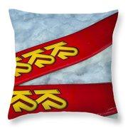 K2 Skis Throw Pillow