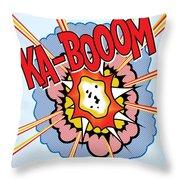 Ka-booom Throw Pillow