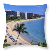 Kaanapali Beach Throw Pillow