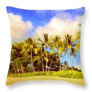 Kaanapali Beach Maui Throw Pillow