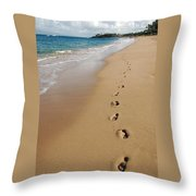Kaanapali Footprints In The Sand Throw Pillow