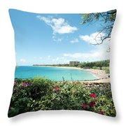 Kaanapali Maui Hawaii Throw Pillow
