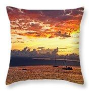 Ka'anapali Sunset Fire Throw Pillow