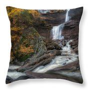 Kaaterskill Falls Autumn Square Throw Pillow