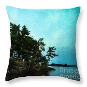 Kabetogama Shoreline Throw Pillow